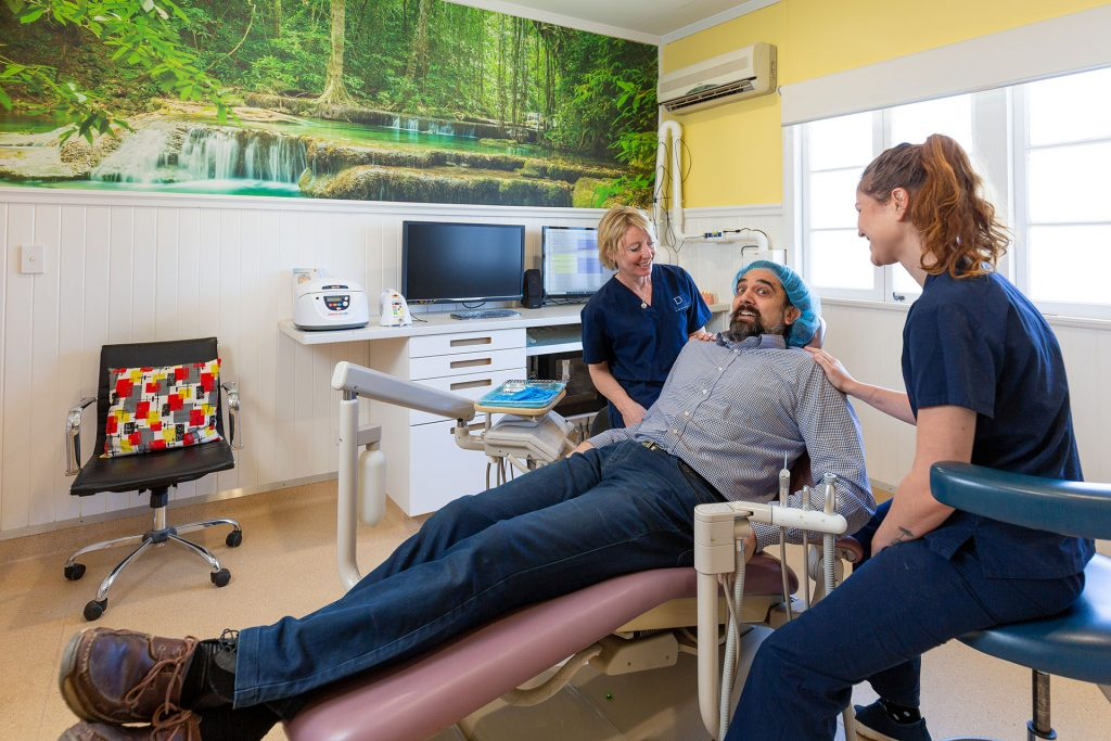 root canal - Dr Keith Zoonan in dentist chair