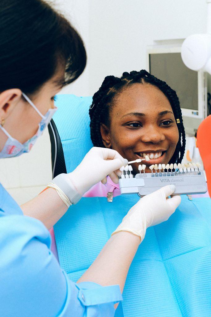 teeth whitening - girl at the dentist