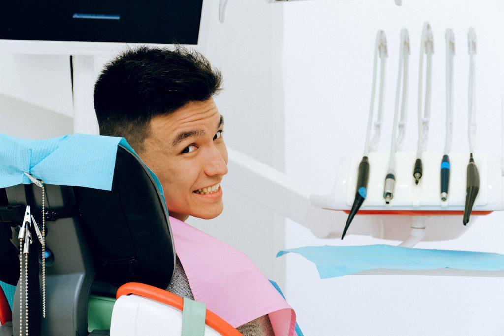 Dentist Sunshine Coast - man at dentist smiling
